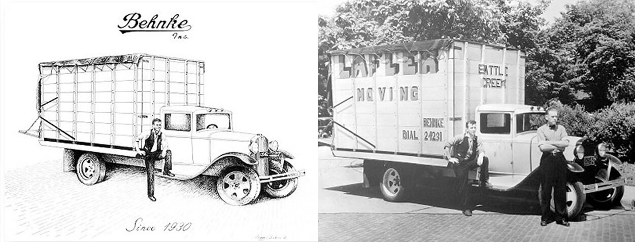 The original Behnke truck, 1930